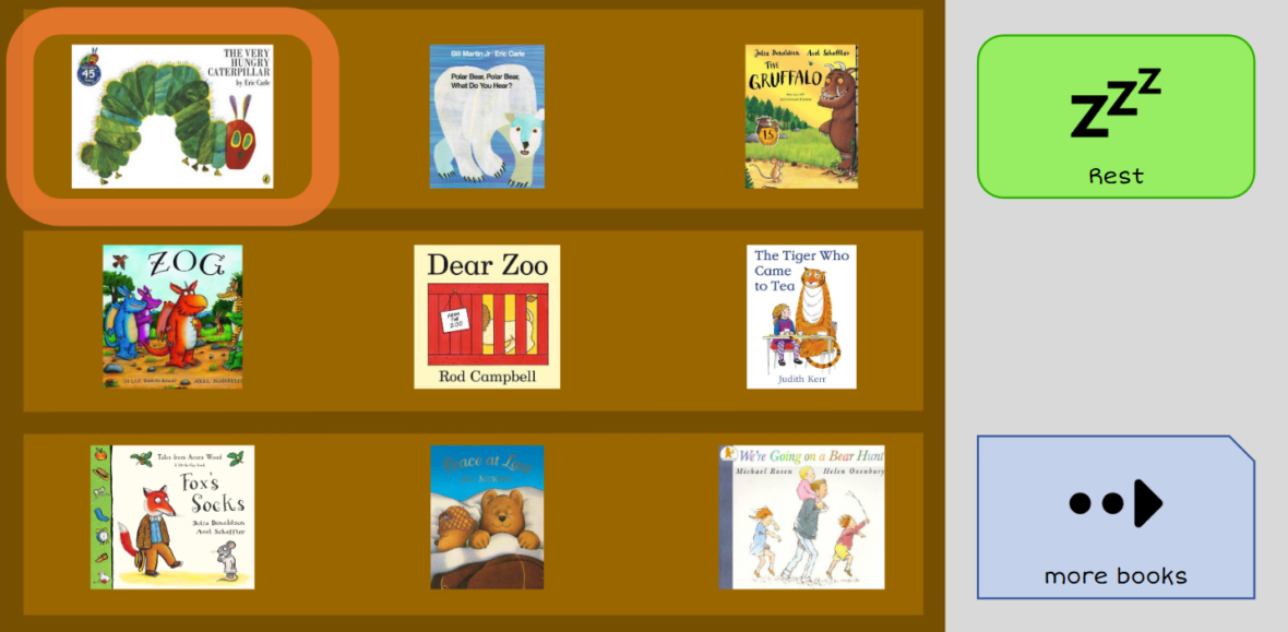 Shared reading books grid set