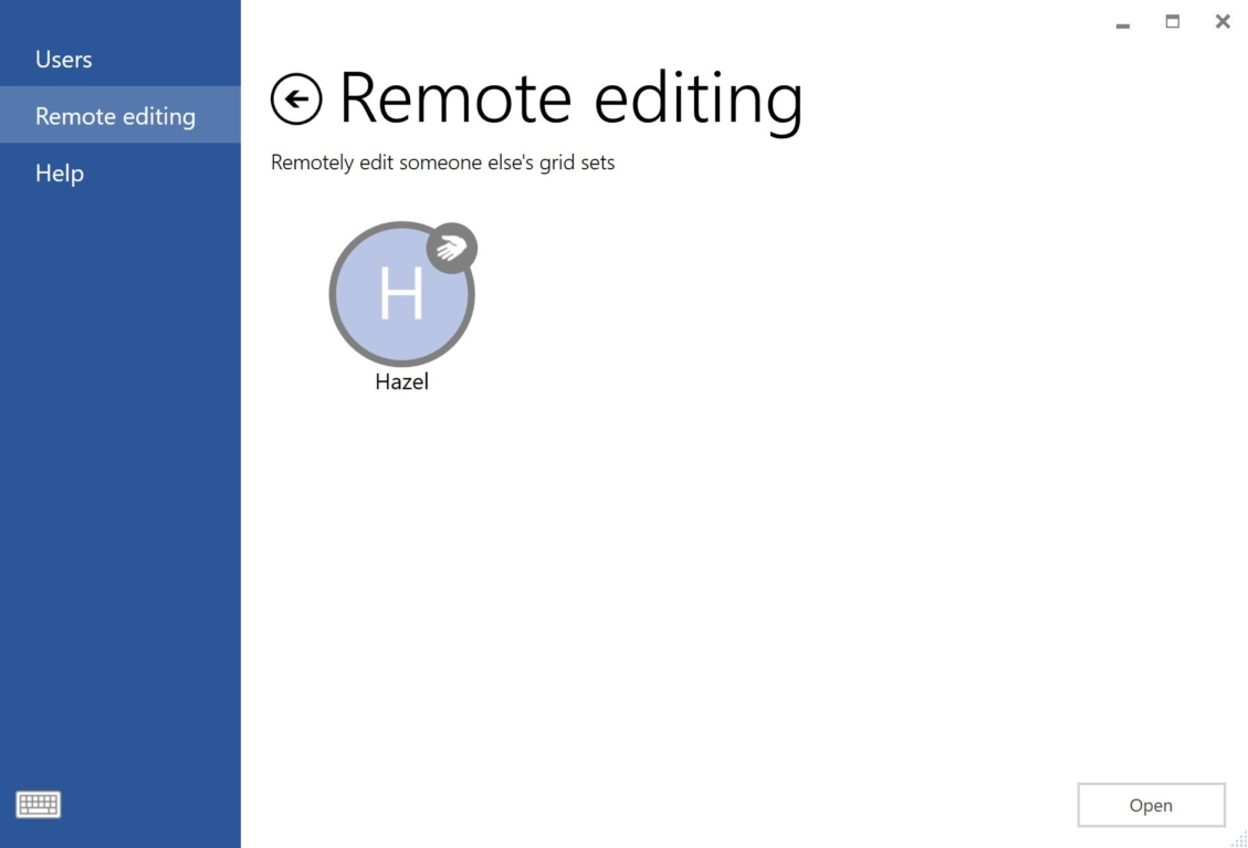 remote edit primary user screen