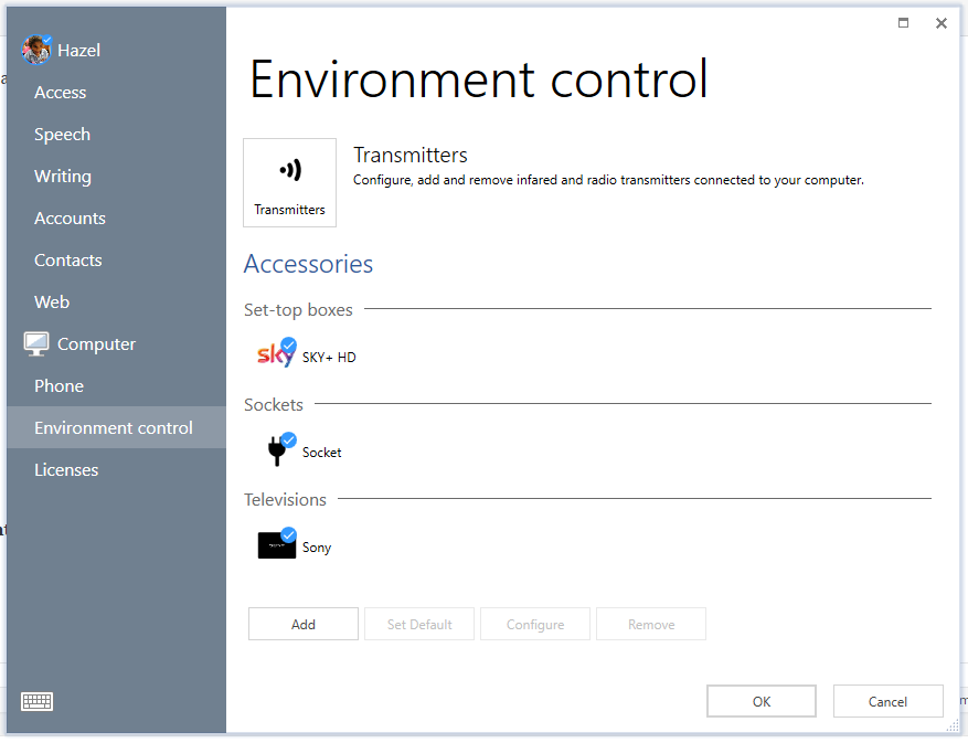 Ev control settings
