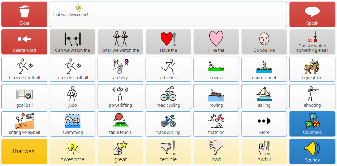 Rio 2016 Paralympics grid set
