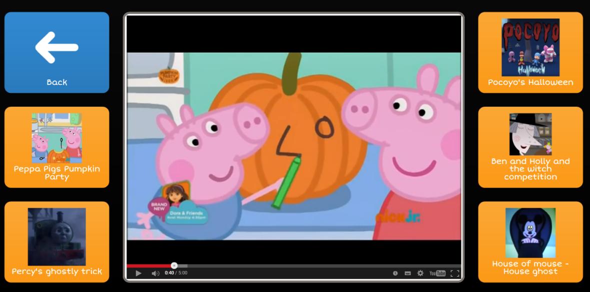 Halloween video grid