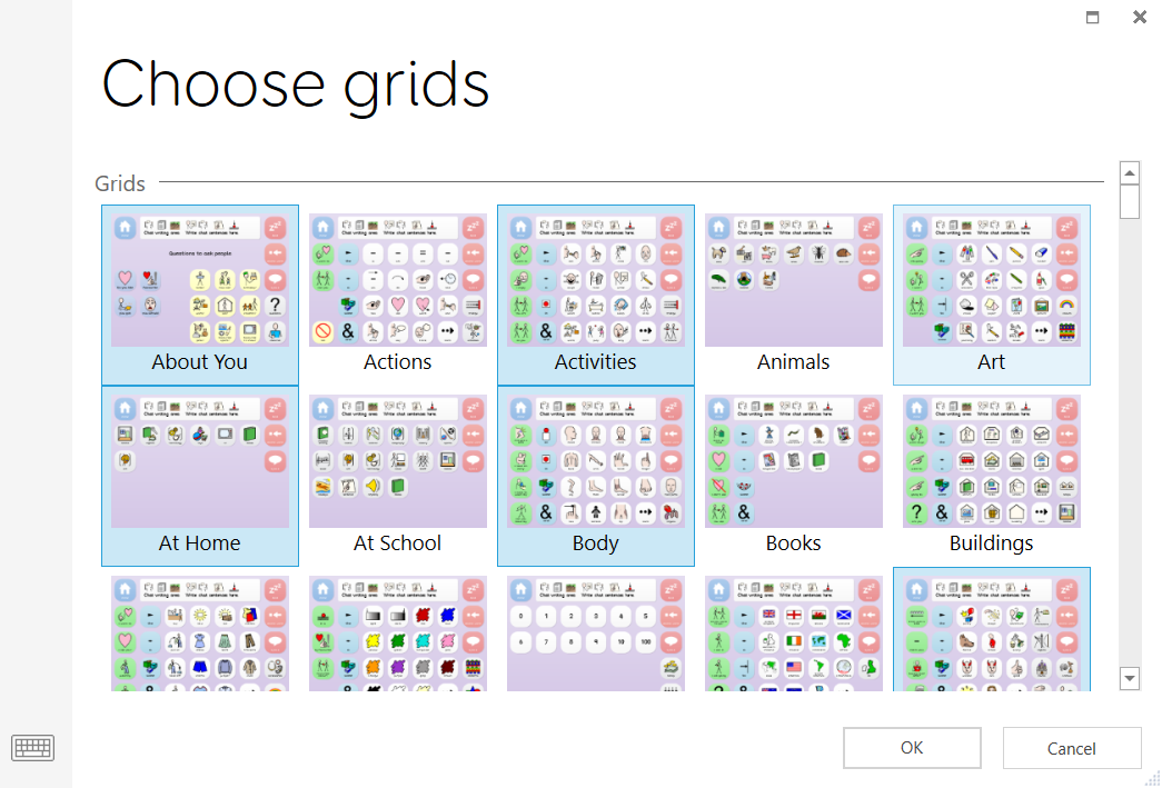 Choose selected grids to print