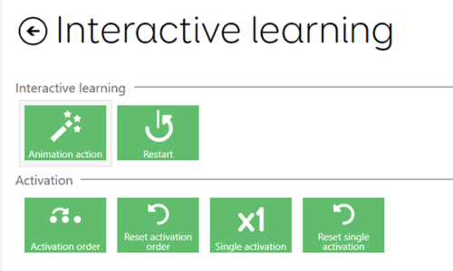 Interactive learning commands
