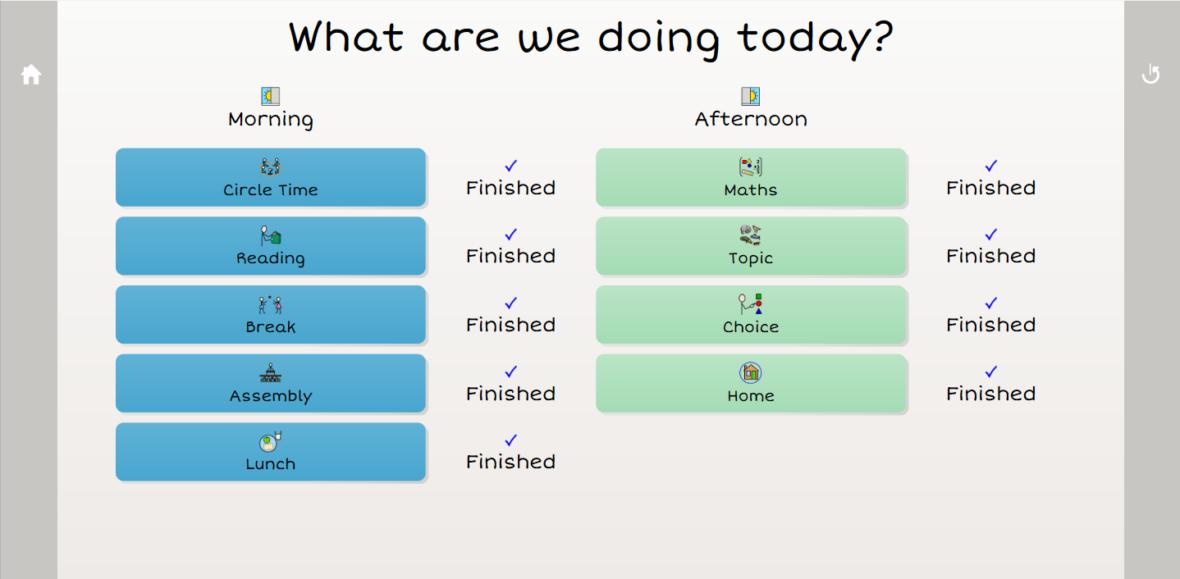 complex visual timetable
