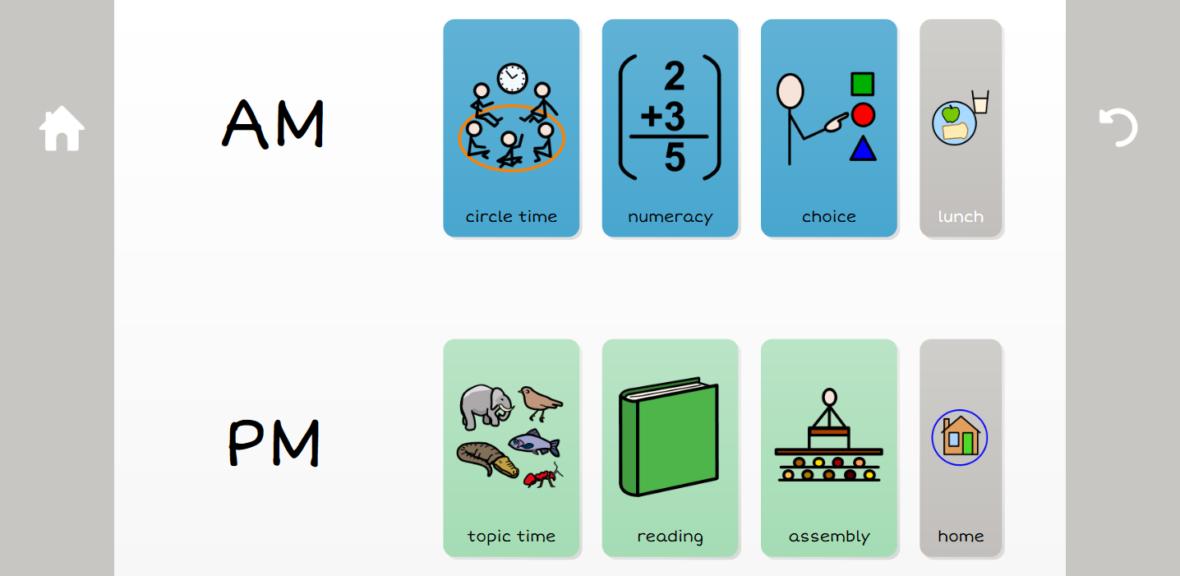 simple visual timetable