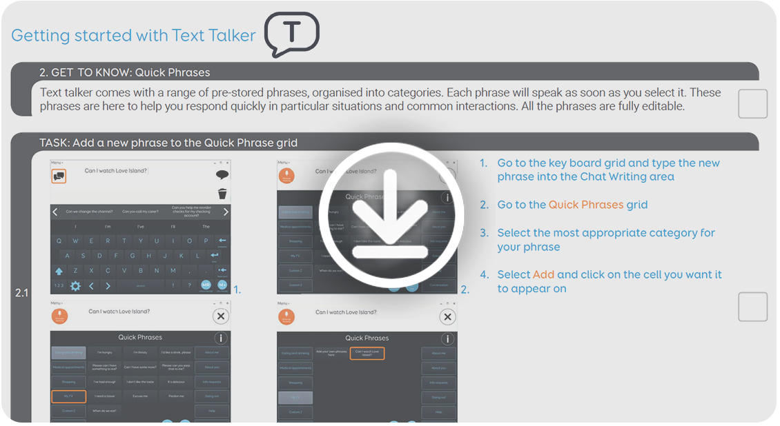 Getting started with Text Talker - webinar - thinksmartbox com