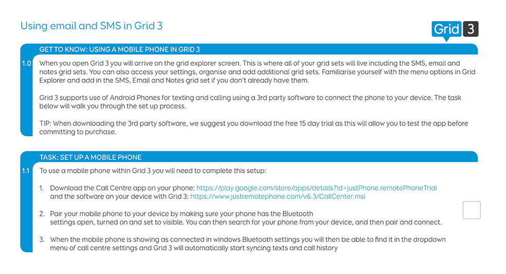 Using email and SMS in Grid 3 - webinar - thinksmartbox com