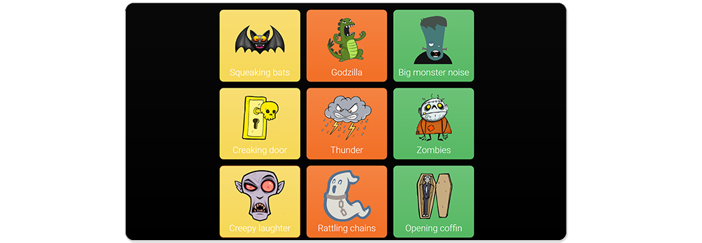 A range of cells with spooky sounds