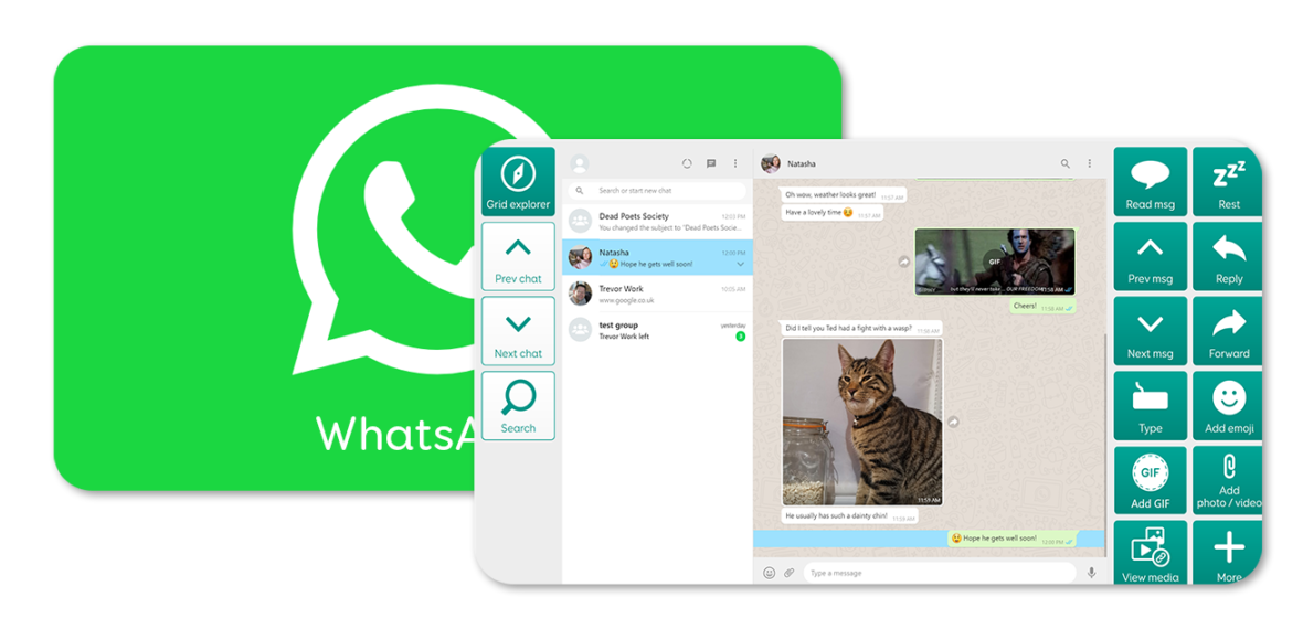 a preview of the WhatsApp grid set