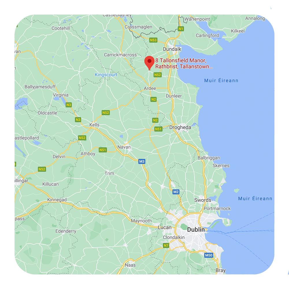 Map of ireland with Smartbox location pinned